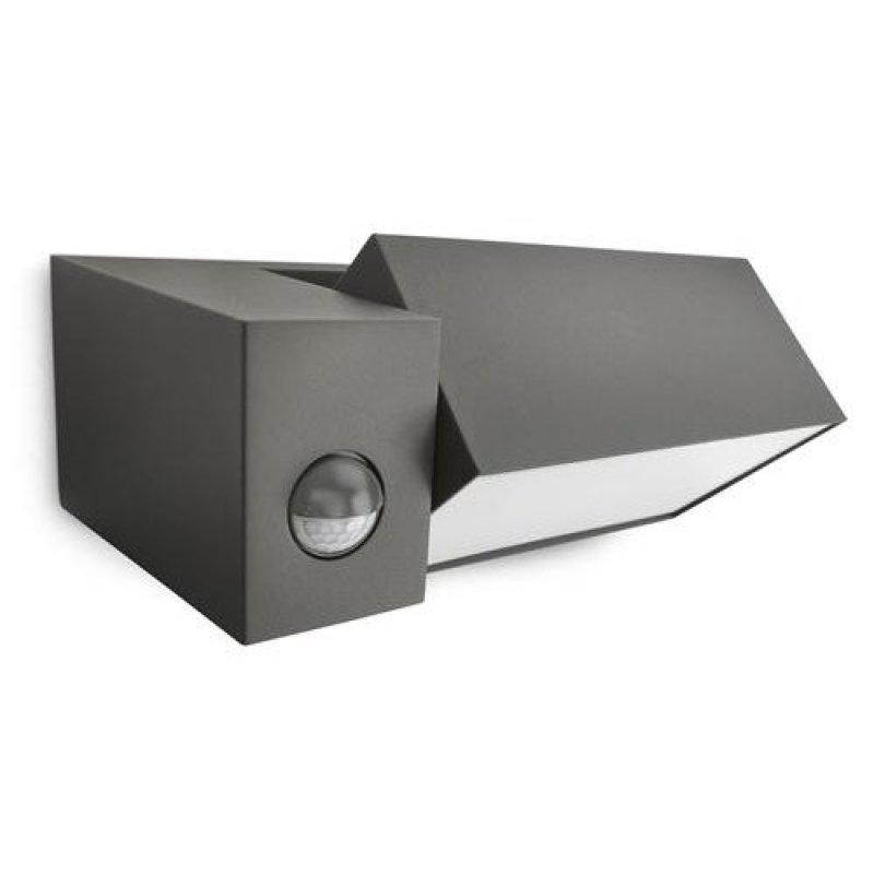 es wandaussenleuchte border mit bewegungsmelder in anthrazit. Black Bedroom Furniture Sets. Home Design Ideas