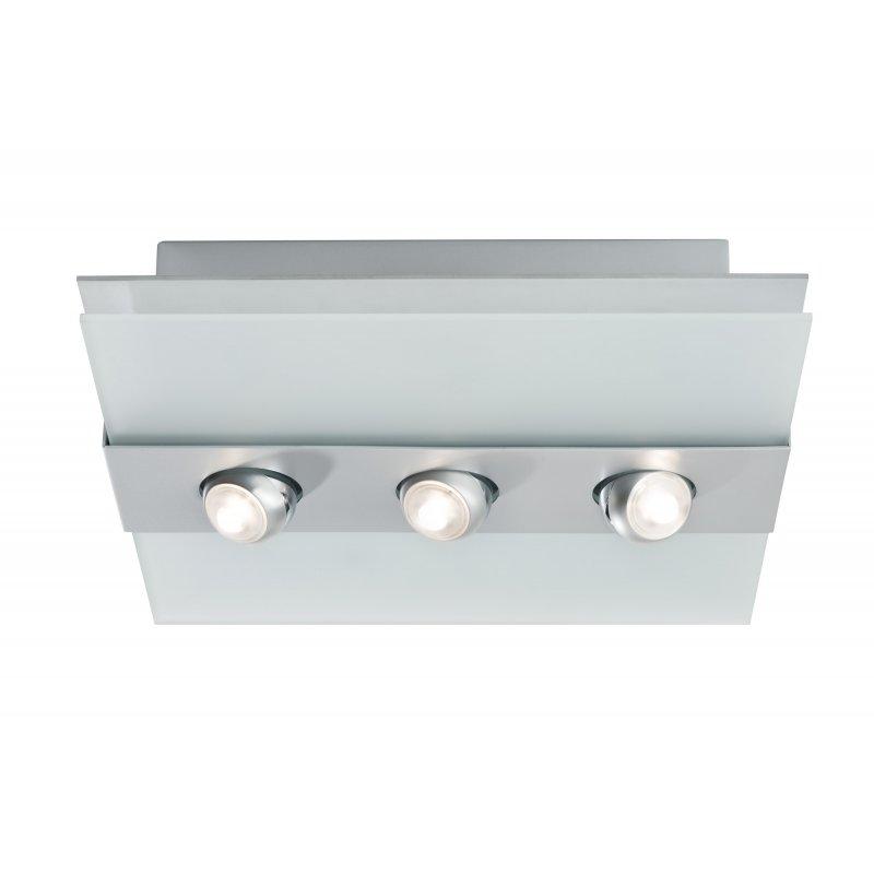 paulmann deckenleuchte xeta spot led 24 w chrom matt metall glas 7. Black Bedroom Furniture Sets. Home Design Ideas