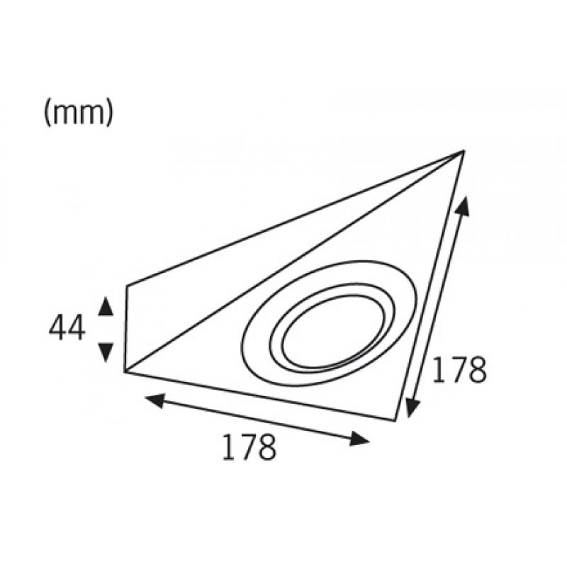 paulmann m belaufbauleuchte micro line 3eckig disc eisen. Black Bedroom Furniture Sets. Home Design Ideas