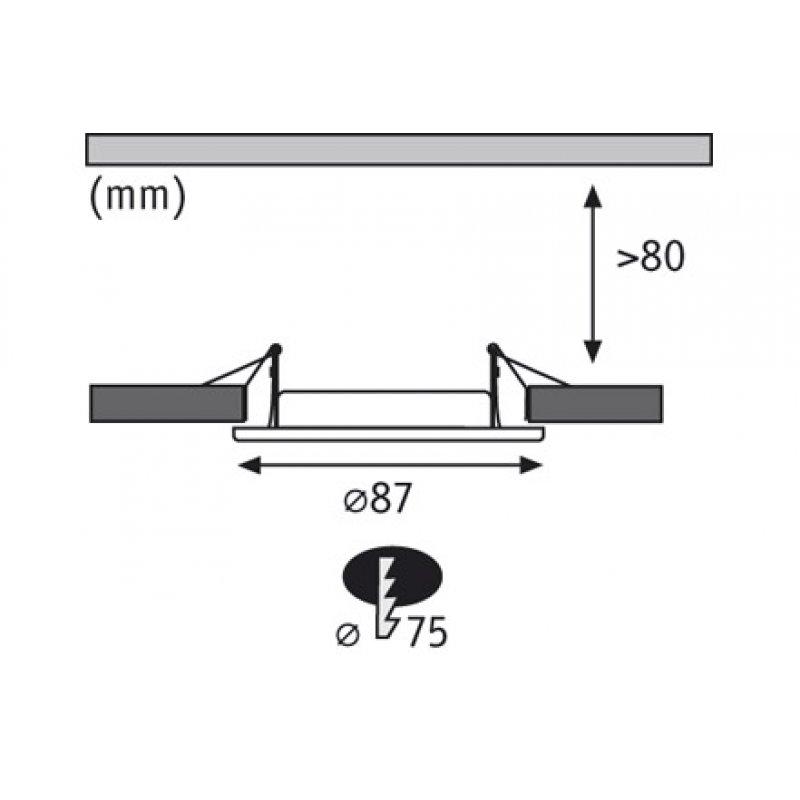 paulmann einbauleuchte premium line ip65 halogen chrom. Black Bedroom Furniture Sets. Home Design Ideas